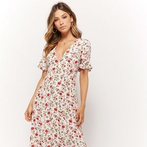 Forever 21 Button-Front Maxi Dress